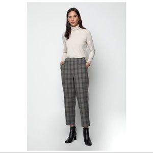 Oak & Fort - Plaid Cropped Slim Fit Pants